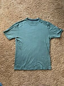 Patagonia Mens Merino Wool Baselayer T-shirt Green L