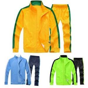 Mens Womens TrackSuit jogging Football Training Suit sport jaket sets pants 2pcs