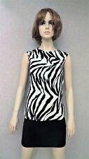 D & G Dolce & Gabbana knit zebra wool top shirt tank new Sz S M L XL 42 Italy