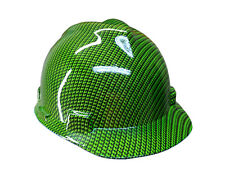 Hydrographic Green Carbon Fiber MSA V-GUARD Cap Hard Hat
