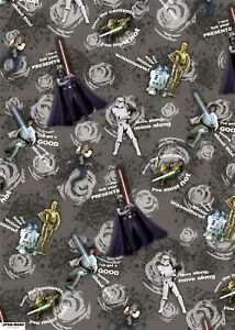 """Hallmark Star Wars Gift Wrap 2 Sheets Tags """" I Have Felt Your Presents"""""""