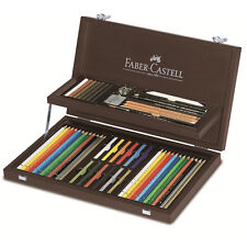 Faber-Castell Art & Graphic Holzkoffer 3x12 Farben