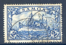 German Post Offices in Samoa 1900 2M Yatch fine used (2019/02/14#07)