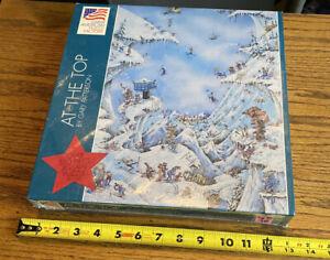 550 Jigsaw Puzzle Gary Patterson Art Snow Skiing Humor Mountain Top New Sealed