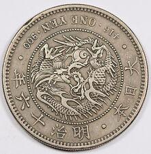 JAPAN 1883 Mutsuhito Meiji (Year 16) 1 Yen Silver Dragon Coin VF/XF Y#A25.2