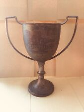 Large Vintage Antique Shabby Chic Display - Silver Trophy Cup #147 - Free UK P&P
