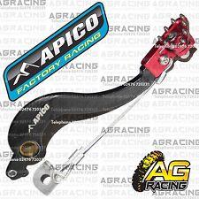 Apico Black Red Rear Brake Pedal Lever For Honda CRF 250R 2006 Motocross Enduro