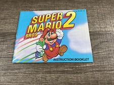 Super Mario Bros 2 Nintendo NES Instruction Manual Only