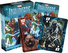 MARVEL INHUMANS PLAYING CARDS NMR DISTRIBUTION AMERICA NEW!