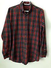 Vintage John Ashford Mens Red Checkered Long Sleeve Button Down