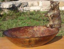 -Coupe Vide-Poche Ours en Bronze Bear