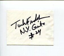 Tucker Frederickson NY New York Giants Auburn Tigers HOF Signed Autograph