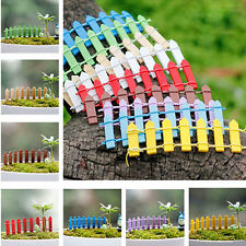 5PCS Wooden Fence Garden Ornament Accessory Plant Pots Fairy Scenery HOME Decor