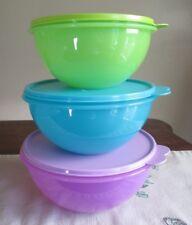 Tupperware NEW 3 lot  Wonderlier Bowls green blue purple