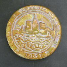 Pewabic Vintage Tile Detroit Skyline 1957