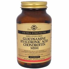 Glucosamine, Hyaluronic Acid Chondroitin MSM, 60 Tablets, Solgar