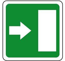CARTELLO SEGNALETICA Uscita di emergenza alluminio. Emergency exit sign 230x230