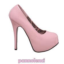 Chaussures pour femmes décolleté 39 ROSE hauts talons escarpins Burlesque PLS-07