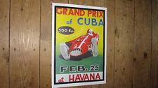 F1 Grand Prix of Cuba Havana Repro Race POSTER