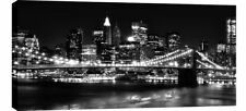 """X LARGE NEW YORK CANVAS PICTURE BLACK AND WHITE 42""""x20"""""""