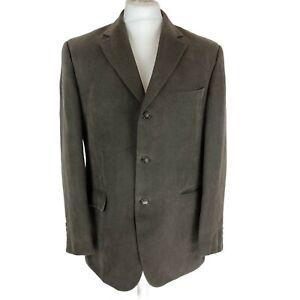 M&S Collezione Light Brown Needle cord Blazer Jacket,  Size 40in/Medium, EXC CON