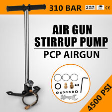 3 Stage PCP Air Gun Rifle Filling Stirrup Pump Shooting Hose Pressure Gauge