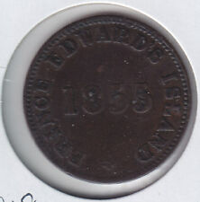 1855 PEI Self Government and Free Trade Penny Token - Breton Br #918