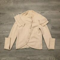Charlie & Robin Womens Beige Wool Blend Cardigan Size Small
