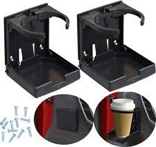 2x Universal Car Van Folding Cup Holder Drink Holders for Vehicle Boat Marine Rv