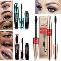 Black 4D Mascara Silk Fiber Eyelash Waterproof Extension Makeup Eye Lashes Kits