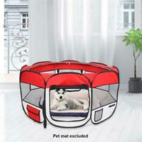 Portable Pet Play Pen Exercise Kennel Tent Dog Soft Playpen Cat Fold Crate Puppy