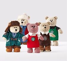 2016 Starbucks Christmas Bearista Collection Set Limited Edition in box