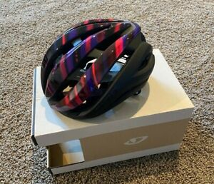 NEW Giro Aether Spherical Helmet Size L Matte Black/Electric Purple