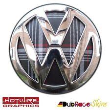 VW GOLF MK7 Jacky Plaid Interlagos - REAR Badge Inserts. GT TSI GTIDubrace