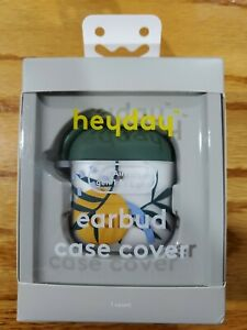 Heyday Earbud Case Cover. Fits Airpods Gen.1&2. Brand New Tropical Leaf