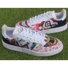 White Adidas Supercourt DC Joker and Harley Custom size 9