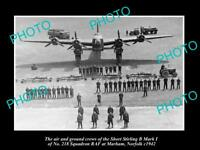 OLD LARGE HISTORIC MILITARY PHOTO BRITISH RAF BOMBING SQUADRON No218 MARHAM 1942