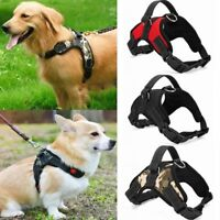 No Pull Adjustable Dog Pet Vest Harness Quality Nylon Pet Puppy Large for S~XL