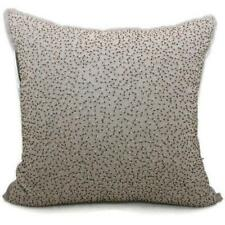 1872 Bloomingdale's Beaded Decorative Pillow 18 x 18 Gray