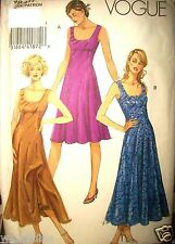Miss Vogue Pattern 8417 Diagonal Seaming Dress 2 Lengths UNCUT FF Size 4-6-8