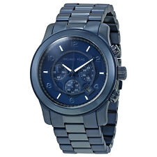 Michael Kors Runway Navy Blue Dial Mens Chronograph Watch MK8538