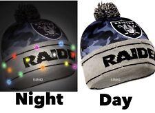 NFL Oakland Raiders Light Up Printed Pom Beanie