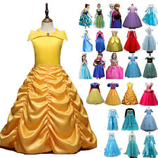 Kids Girls Elsa Princess Cinderella Dresses Cosplay Costume Party Fancy Dress AU