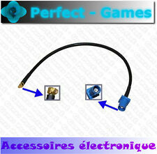 Cable adaptateur connecteur antenne antenna FAKRA C male vers MMCX male GPS DAB