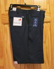 "NWT IZOD Flat Front Winkle free Wicking Shorts Men's Black 32 waist 10.5"" inseam"