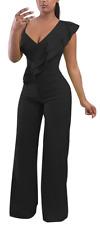 Cosics Womens Jumpsuits and Rompers Elegant, Dressy with Wide Leg Pants XL Black