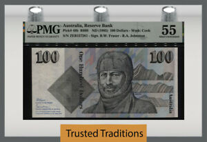 TT PK 48b ND (1985) AUSTRALIA RESERVE BANK 100 DOLLARS PMG 55 ABOUT UNCIRCULATED