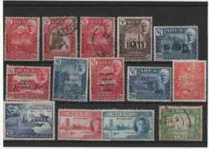 14 stamps from aden