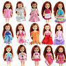6 PCS Handmade Dresse Clothes Outfits for Barbie Little Sister Kelly Xmas Gift