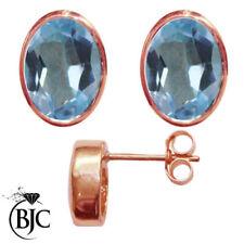 Orecchini di lusso con gemme bottoni in oro rosa 9 carati